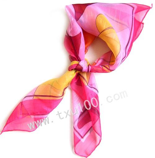 丝巾折叠方法图解